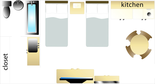 deluxe room layout